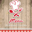 Illustration of vintage retro frame with restaurant menu design - Imagens vectoriais em stock