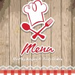 Illustration of vintage retro frame with restaurant menu design — Vettoriali Stock