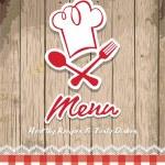 Illustration of vintage retro frame with restaurant menu design — Stock Vector