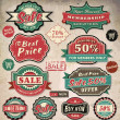 Collection of vintage retro grunge sale labels, badges and icons — Stock Vector #13620077