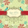 Stock Vector: Holiday card
