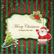 Royalty-Free Stock Vector Image: Vintage christmas frame with ornaments