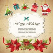 Vintage christmas frame background — Vetor de Stock