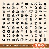 Icons for web and mobile elements collection — Stock Vector
