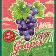 Stock Vector: Retro Fresh Grapes Poster Design