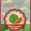 Retro Fresh Food Poster Design — Stock Vector