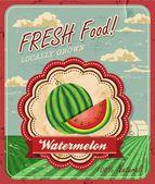 Retro Fresh Food Poster Design — Stock Vector