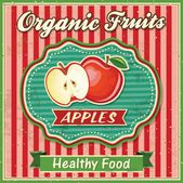 Retro Fresh Apple Poster Design — Stock Vector