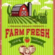 Vintage Farm Fresh Poster Design — Stock Vector #27685541