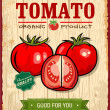 Vintage Retro Tomato Poster Design — Stock Vector