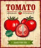 Vintage Retro Tomato Poster Design — Stock Vector