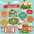 Christmas sale tags, labels and illustrations design elements collection — Stock Vector #34445923