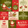 Stock Vector: Vector set of Christmas symbols
