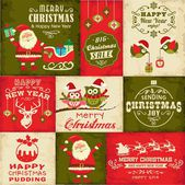 Vector set of Christmas symbols — Stock Vector