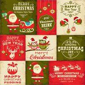 Vector set of Christmas symbols — Stock Vector