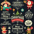 Stock Vector: Christmas and New Year labels, icons and elements vector collection