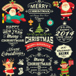 Christmas and New Year labels, icons and elements vector collection — Stock Vector #35887111