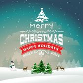 Christmas greeting card with background — Stock Vector