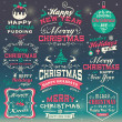 Christmas and New Year design elements — Stock Vector