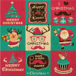 Vintage Christmas symbols, icons and hipster elements vector collection — Stock Vector