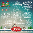 Christmas decoration collection of calligraphic and typographic design with labels, symbols and icons elements — Stock Vector #36961211