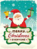Noel Baba tebrik kartı tasarımı — Stok Vektör