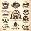 Collection of vintage retro bakery logo badges and labels — Stock Vector #41894539