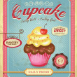 Cupcake poster design in retro style — Stock Vector #42821613
