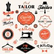 Collection of vintage retro tailor labels, badges and icons — Stock Vector #49667845