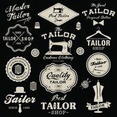 Vintage design elements. Set of retro labels, badges and icons — Stock Vector