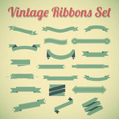 Vintage styled ribbons collection. — Stock Vector