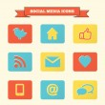 Social media icons set. — Stock Vector #16895965