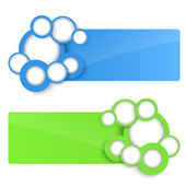 3D Vector Banners with circle. — Stock Vector