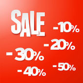 Sale percents paper set. Vector. — Stock Vector