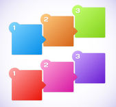 Conceptual vector illustration of colorful cubes — Stockvektor