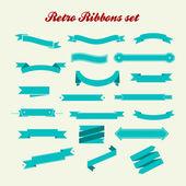 Kolekcja retro stylu wstążki — Zdjęcie stockowe