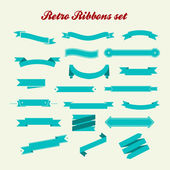Retro styled ribbons collection — 图库照片