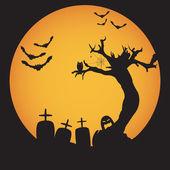 Grunge Halloween night background — Stock Vector