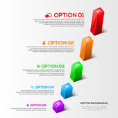Modern 3D charts infographic — Stock Vector
