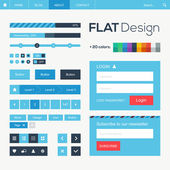 Flat web and mobile design elements — Stock Vector