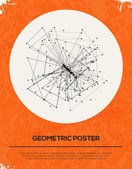 Abstract Retro Geometric Background. — Stock Vector