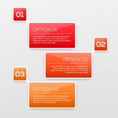 Abstract 3D Infographics — Stock Vector