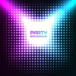 Shiny Disco Party Background Vector Design — Stock Vector