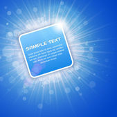 Blue Bright 3D Background with text space — Stock Vector