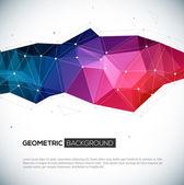 3d geometrik renkli arka plan. — Stockvector