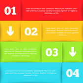 Modèle infographique pour votre conception — Vecteur