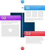 Modern timeline design template — Stock Vector