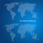 Two dotted world maps — Stock Vector