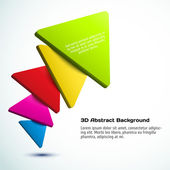 Colorful 3D triangle background. — Stock Vector