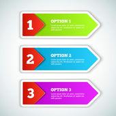 Vector 3d Paper Progress background — Stock Vector